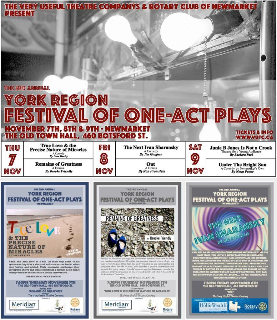 2019 Festival of One Act Plays- vutc - www.vutc.ca